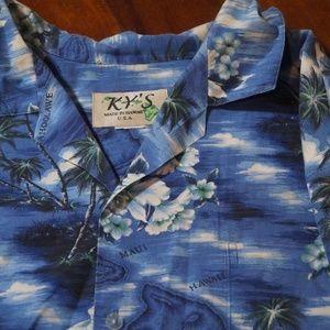 Mens KY's Hawaii Camp Lounge Shirt Sz XL